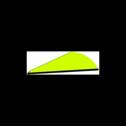 """Q2I Rapt-X 2"""" Neon Yellow Vanes"""