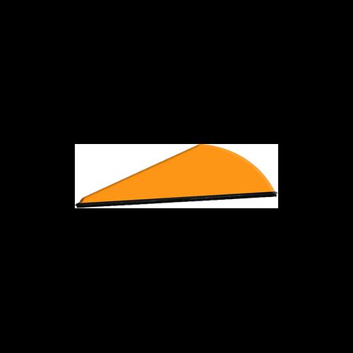 """Q2I Rapt-X 2"""" Neon Orange Vanes"""