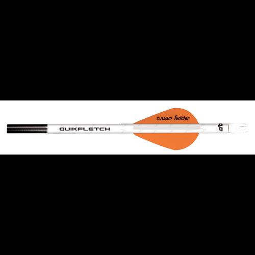 """NAP 2"""" Quikfletch Twister 1-White 2-Orange"""