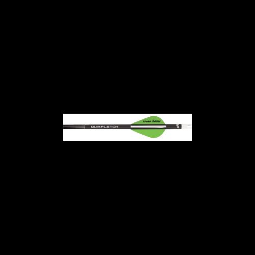 "NAP 2"" Speed Hunter Quik Fletch Black Tube White/Green/Green"
