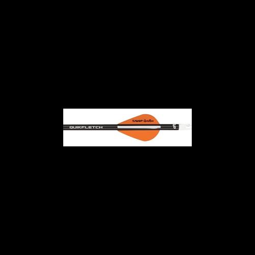 "NAP 2"" Speed Hunter Quik Fletch Black Tube White/Orange/Orange"