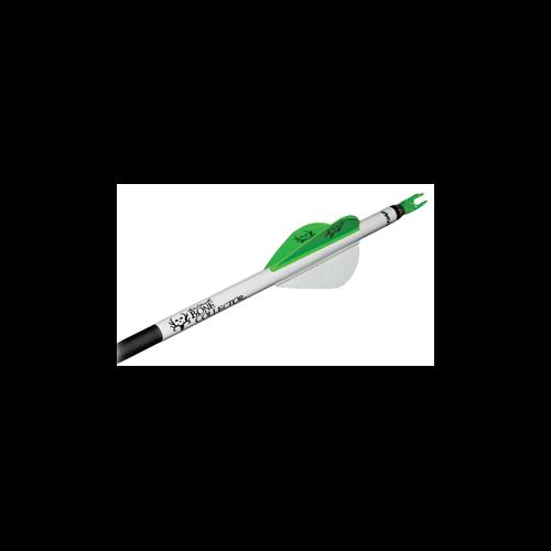 "NAP 2"" Speed Hunter Quik Fletch Bone Collector Tube Wht/Grn/Grn"