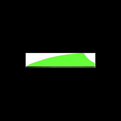 """Q2I Fusion II 2.1"""" Neon Green Vanes"""
