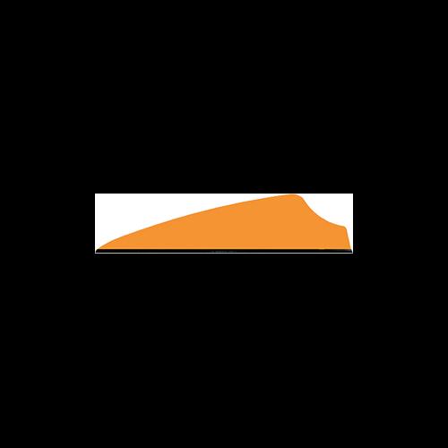 "Q2I Fusion II 2.1"" Neon Orange Vanes"