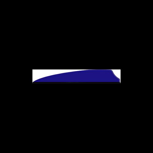 """Q2I Fusion X-II 3"""" Royal Blue Vanes"""