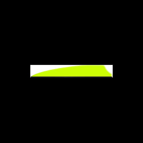 "Q2I Fusion X-II 3"" Neon Yellow Vanes"