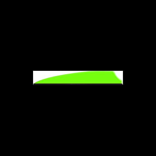 """Q2I Fusion X-II 3"""" Neon Green Vanes"""