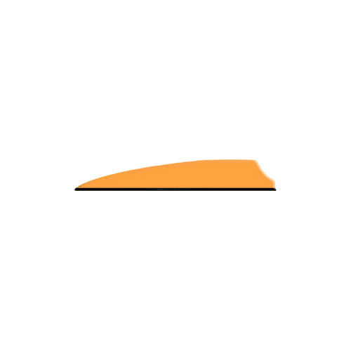 "Q2I Fusion X-II 3"" Neon Orange Vanes"