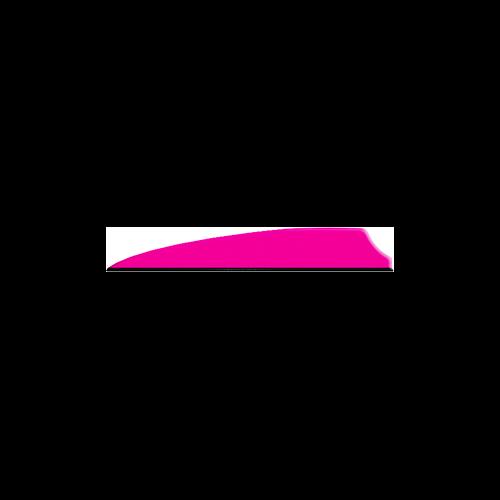 "Q2I Fusion X-II 3"" Neon Pink Vanes"