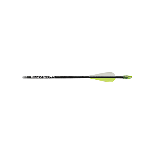 Carbon Express Thunder Express Arrows Black 26 in. 3 pk.