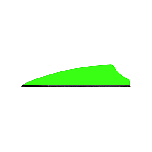 Q2i Fusion X-II Vanes Neon Green 2.1 in. 100 pk.
