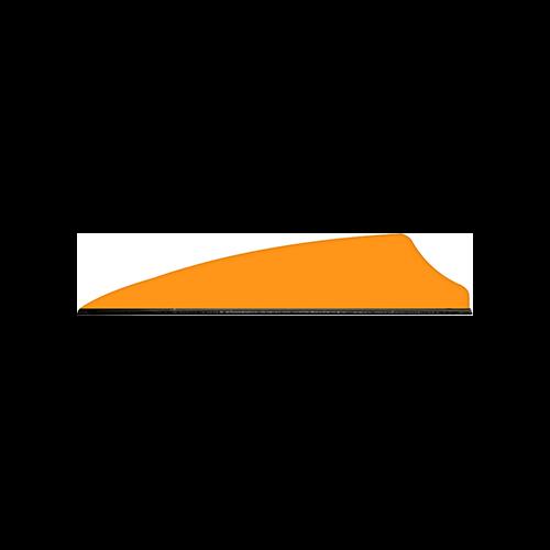 Q2i Fusion X-II Vanes Neon Orange 2.1 in. 100 pk.