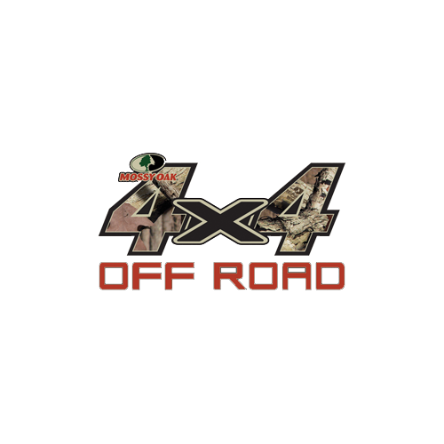 Mossy Oak Off Road 4x4 Black X  13.75x7.5 Decal