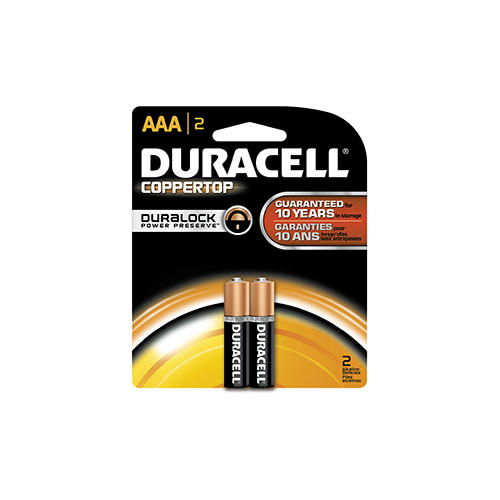 Duracell Coppertop Battery AAA 2 pk.