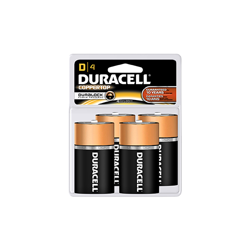 Duracell Coppertop Battery D 4 pk.