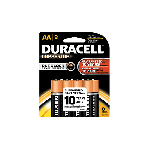 Duracell Coppertop Battery AA 8 pk.