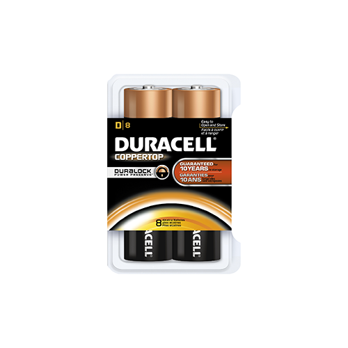 Duracell Coppertop Battery D 8 pk.