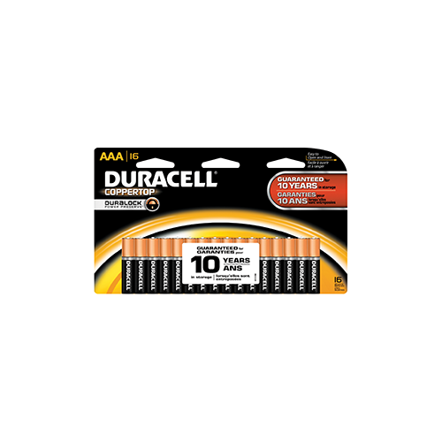 Duracell Coppertop Battery AAA 16 pk.