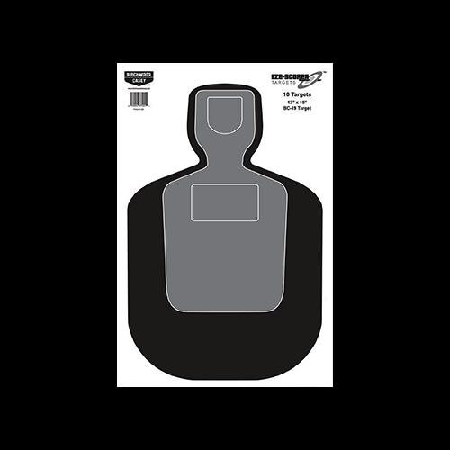 Birchwood Casey EZE-Scorer BC-19 Silhouette 12x18in 10pk