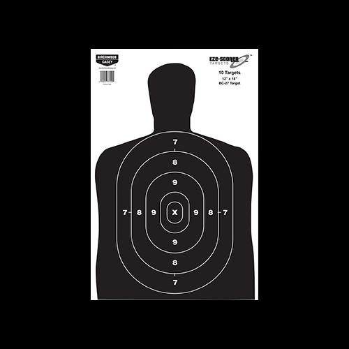 Birchwood Casey EZE-Scorer BC-27 Silhouette 12x18in 10pk