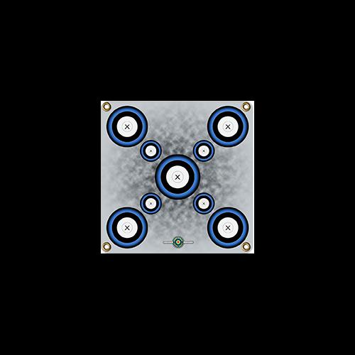 Arrowmat Foam Target Face Blue 9 Spot 17x17 in.