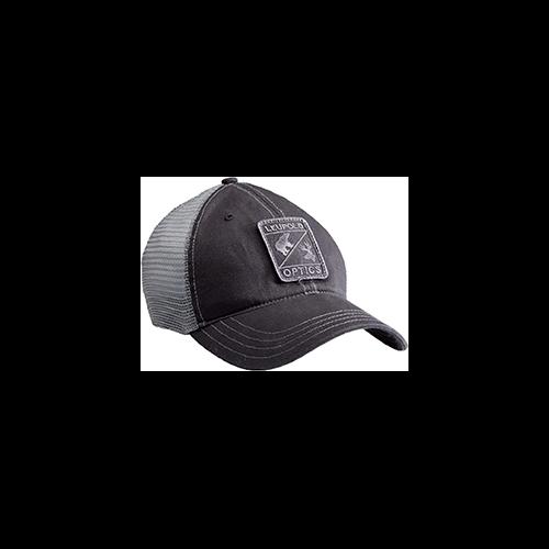 Leupold Optics Soft Trucker Hat Black and Grey