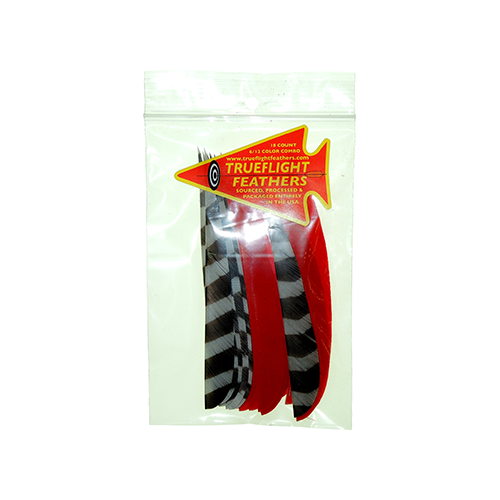 Trueflight Feather Combo Pack Barred/Red 5 in. LW ShieldCut