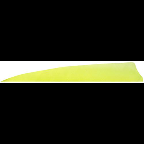 Gateway Shield Cut Feathers Flo Yellow 4 in. RW 100 pk.