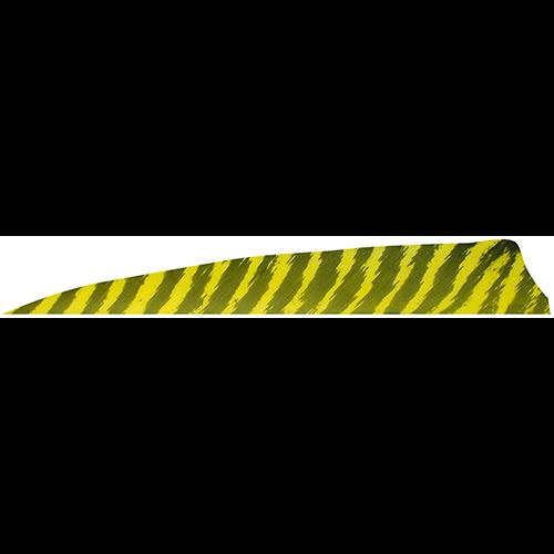 Gateway Shield Cut Feathers Barred Yellow 4 in. RW 100 pk.