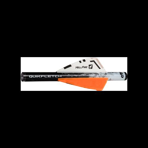 NAP Quikfletch Hellfire White/Orange/Orange 2 in. 6 pk.