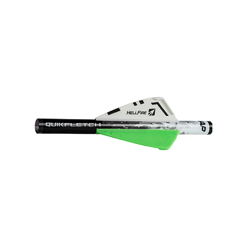 NAP Quikfletch Hellfire White/Green/Green 2 in. 6 pk.