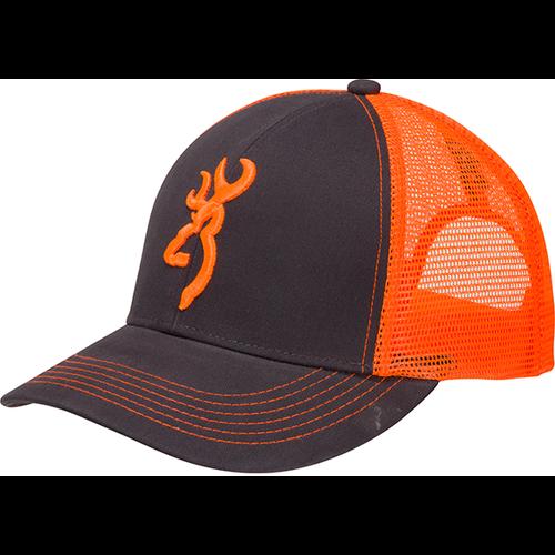 Browning Flashback Neon Cap Charcoal/Neon Orange w/Buckmark