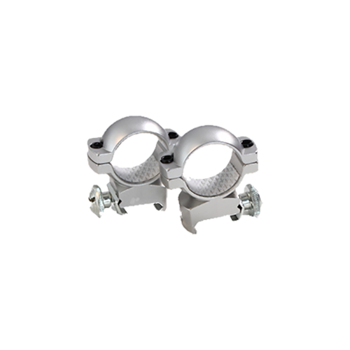 "Traditions 1"" High Weaver 7/8 Base Rings Matte Silver"