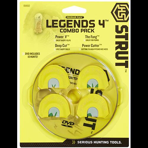 Hunters Specialties Strut Legends Turkey Call Combo 4 pk.