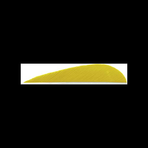 Trueflight Parabolic Feathers Yellow 3 in. LW 100 pk