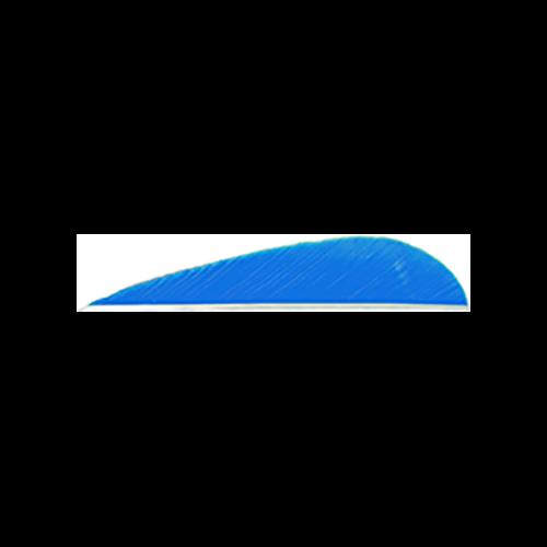 Trueflight Parabolic Feathers Blue 3 in. LW 100 pk