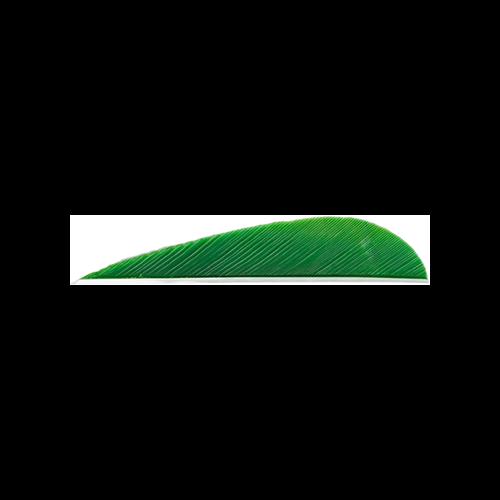Trueflight Parabolic Feathers Green 3 in. LW 100 pk