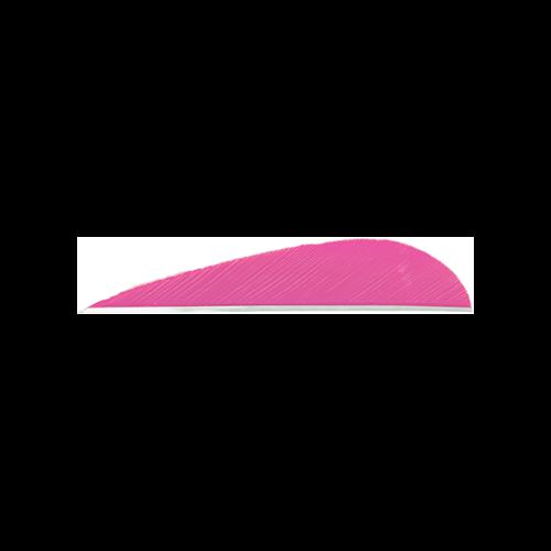 Trueflight Parabolic Feathers Pink 3 in. LW 100 pk