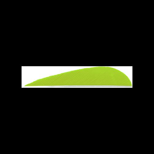 Trueflight Parabolic Feathers Chartreuse 3 in. LW 100 pk