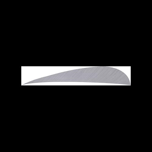 Trueflight Parabolic Feathers Grey 4 in. RW 100 pk