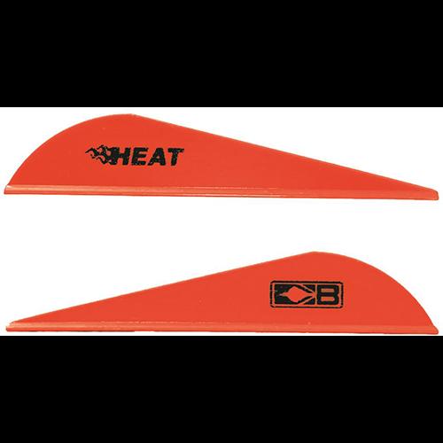 Bohning Heat Vanes Neon Red 36 pk.