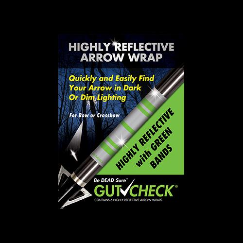 Gut Check Highly Reflective Arrow Wraps Green 6 pk.