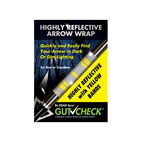 Gut Check Highly Reflective Arrow Wraps Yellow 6 pk.