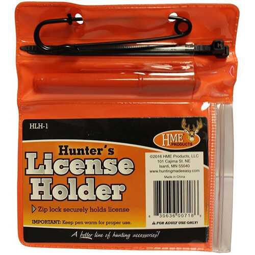 HME License Holder Combo License Holder w/Pen & Zip Ties
