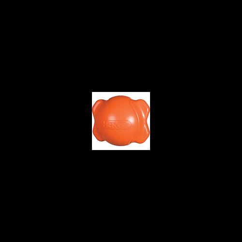 Hero Signature Soft Rubber Bone Ball Hunter Orange Medium