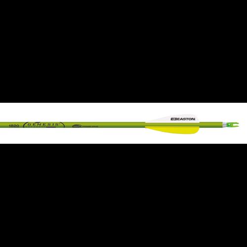 """19 Genesis 1820 Green Arrow F/L 3"""" Vanes Brite w/N Nock/Point"""