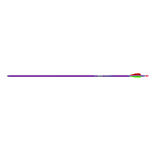 """19 Genesis 1820 Purple Arrow 3"""" Vanes Brite w/N Nock/Point"""