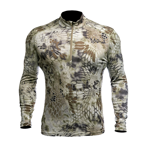 Hoplite II Baselayer Top Mid- Weight Highlander Camo Large