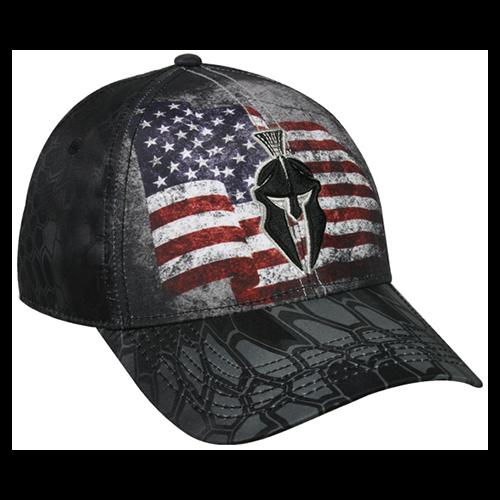 Kryptek USA Flag Typhon Black Hat