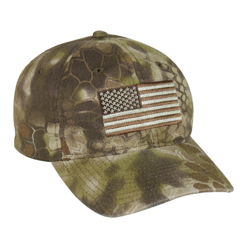 Kryptek USA Flag Hat Highlander Camo
